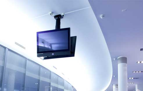 Ceiling Mounted TV Installation
