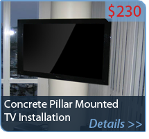 Concrete Pillar Mounted TV Installation