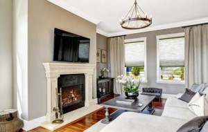 Fire Place Wall Mounted TV Installation