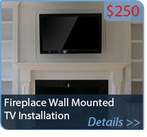 Fireplace Wall Mounted TV Installation