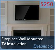 Fireplace Wall Mounted TV Installation