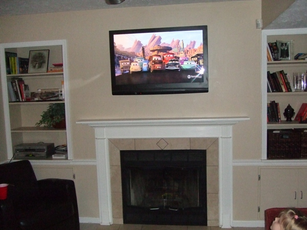 fireplace leslievillegeek tv installation home theatre cabling wiring. Black Bedroom Furniture Sets. Home Design Ideas