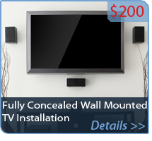 Fully Concealed Wall Mounted TV Installation