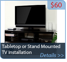 Tabletop or Stand Mounted TV Installation