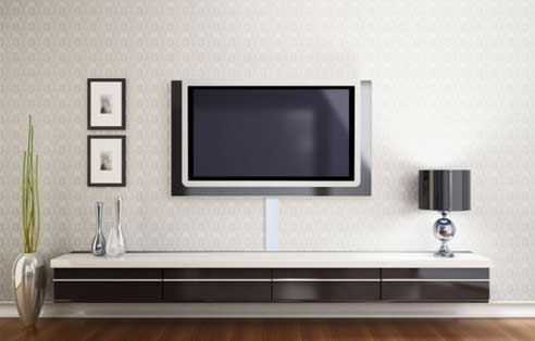 Track Wall Mounted TV Installation