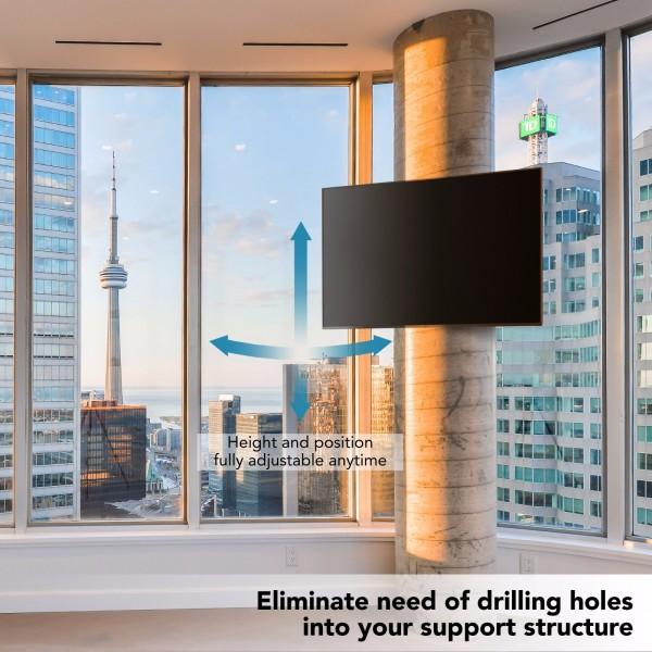 No drilling tv mount wrap around circular Pilar square column
