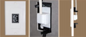 Extension cord for Tv wall mount