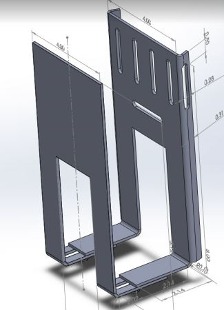 Cable box mounting bracket for pillars and columns