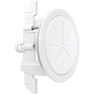 Clean wall mount look with cable hiding kit