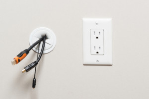 In wall Wire grommet for tv mounts , cable hider for wall mounted TVs