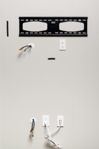 Power bridge for walls tv . In wall cable management for wall mounted TVs, cable hider for wall Mount tv,