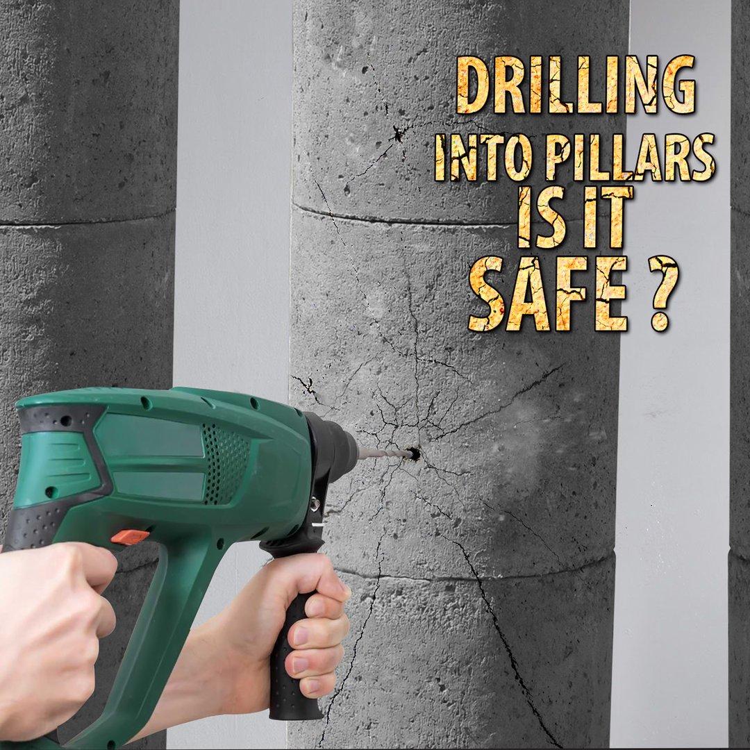 can i drill into concrete column