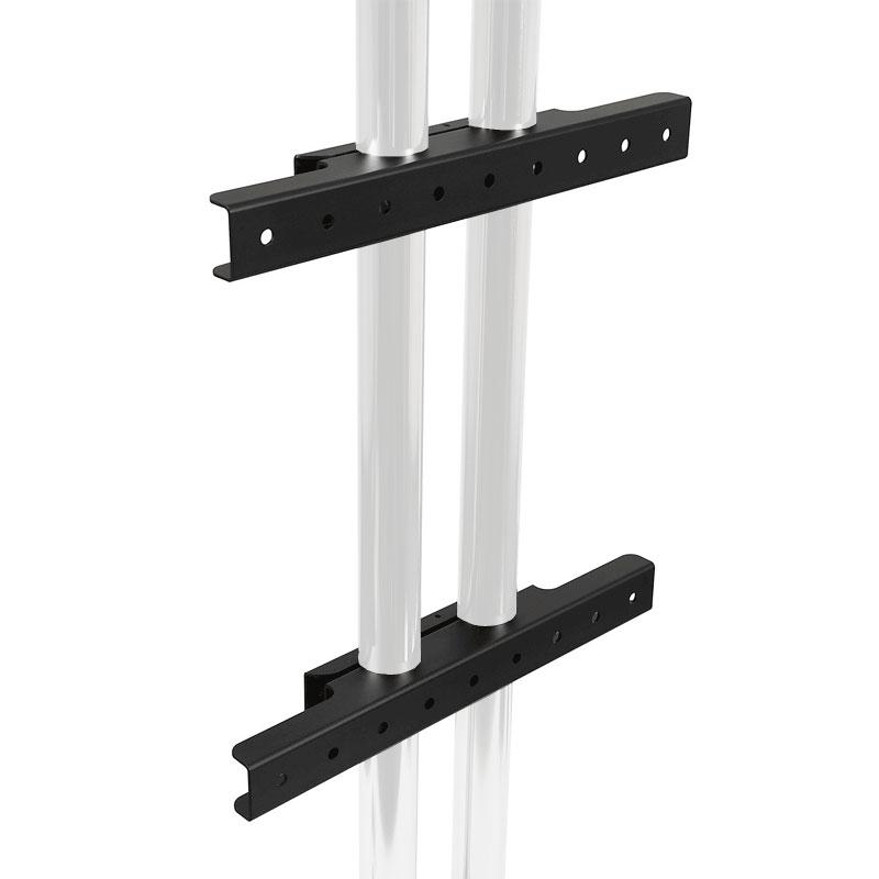 Peerless Modular Series Dual Pole Wall Mount Interface (Black) MOD-AWM2