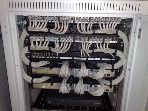 19-inch rackmount Ethernet switches and patch panels